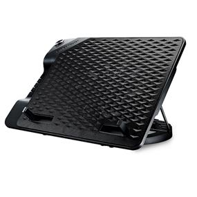 "Cooler Master NotePal ErgoStand III(Black) -up to 17"", 230mm Silent Fan,4-Port USB Hub Laptop Cooling Stand (R9-NBS-E32KU-GP)"