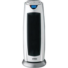 Optimus 21-Inch Oscillating Tower Heater with Digital Temperature Readout and Remote Control - Silver (H-7315)