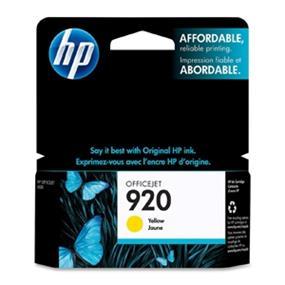 HP 920 Yellow Original Ink Cartridge (CH636AN)