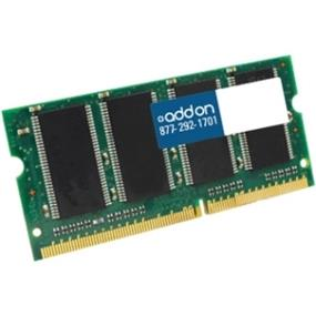 AddOn 4GB DDR3 1066MHZ 204-pin SODIMM F/ Notebooks - 1066MHz DDR3-1066/PC3-8500 - 204-pin SoDIMM (AA1066D3S7/4G)