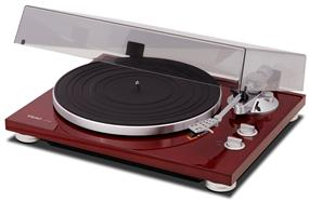 TEAC TN-300 Manual Belt-Drive Turntable with Audio-Technica AT-95E Phono Cartridge (Cherry)