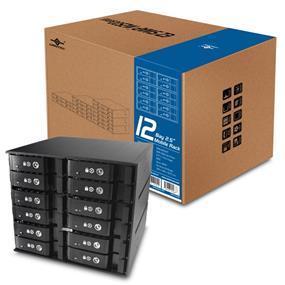 VANTEC Aluminum Mobile Rack 12 bays ( MRK-M2512T  )