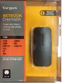 Targus Netbook Universal Adapter 45W with 6 tips *new packaging*