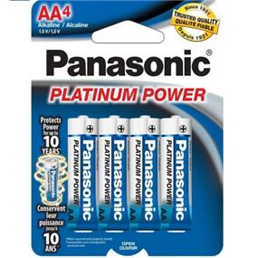 Panasonic Platinum Alkaline AA-4  1.5V (LR6XP4B)