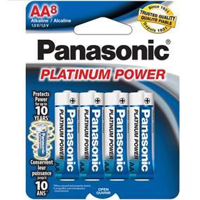 Panasonic Platinum Alkaline AA-8 1.5V (LR6XP8B)