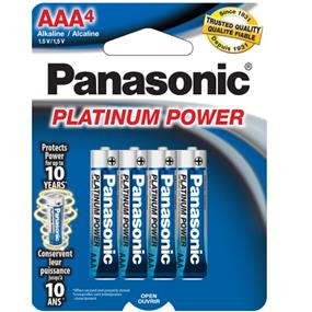 Panasonic Platinum Alkaline AAA-4 1.5V (LR03XP4B)