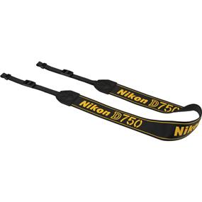 Nikon AN-DC14 - Neck Strap for Nikon D750 DSLR Camera (Black)