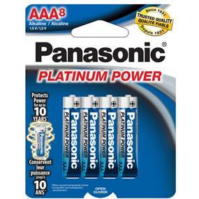 Panasonic Platinum Alkaline AAA-8 1.5V (LR03XP8B)