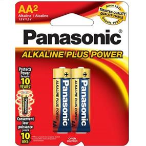 Panasonic Alkaline Plus AA-2 1.5V (AM3PA2B)