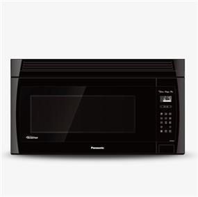 Panasonic NNSE284B 2.0 cu. ft. Genius Prestige Plus Inverter 420 CFM Over-the-Range OTR Microwave Oven - Black (NNSE284B)