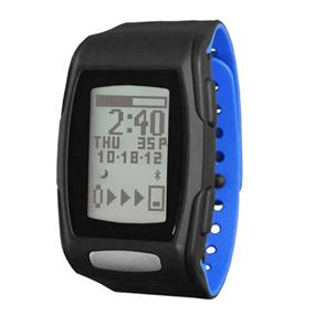 LifeTrak Zone C410 Automatic Bluetooth Activity Tracker with Built-in ECG Heart Rate Monitor - Black/Blizzard Blue (LTK7C4102)