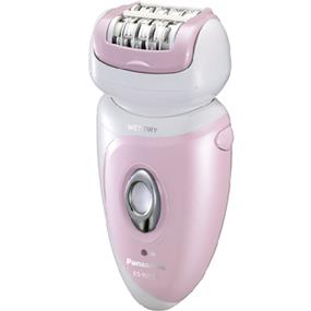 Panasonic ESWD51P Hypo-Allergenic Blade Cordless Rechargeable Wet / Dry Washable Women's Epilator (White & Pink)