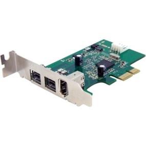 StarTech 3 Port 2b 1a Low Profile 1394 PCI Express FireWire Card Adapter - 2 x 9-pin Female IEEE 1394b FireWire 800 (PEX1394B3LP)
