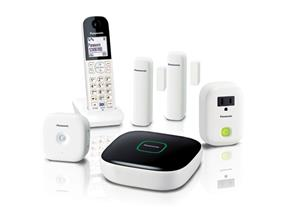 Panasonic KXHN6003 Monitoring & Control Kit with one Hub, two Window/Door sensors, one Motion Sensor, one Smart Plug and one Digital Cordless Handset