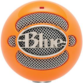 Blue Snowball - USB Condenser Microphone with Accessory Pack (Neon Orange)