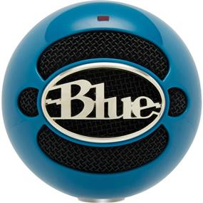 Blue Snowball - USB Condenser Microphone with Accessory Pack (Neon Blue)