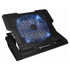 """Thermaltake Massive23 GT, Notebook Cooler - 230mm Blue LED Fan, Black Metal Mesh Design, Up to 17"""" Notebooks (CLN0020)"""