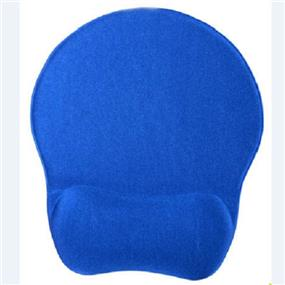 iCAN Memory Foam Mouse Pad KLH-3048(Blue)Cloth Top+PU base+Memory Foam wrist rest.Hard PVC sheet on the mouse pad