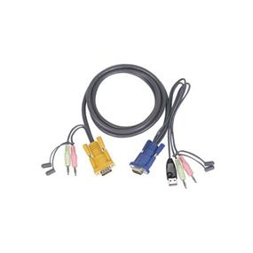 IOGEAR Micro-Lite™ Bonded All-in-One USB KVM Cable - 3' (G2L5301U)