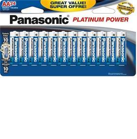 Panasonic Alkaline Platinum Power AA 24 Blister Pack (LR6XP24BTR)