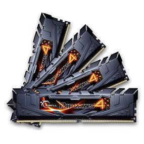 G.SKILL Ripjaws 4 Series 16GB (4x4GB) DDR4 3200MHz CL15 Quad-Channel DIMMs (F4-3200C16Q-16GRKD)