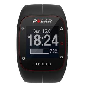 Polar M400 HR Activity Tracking Sport Watch with Bluetooth GPS and Heart Rate Sensor - Black (90051340)