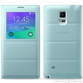 Samsung Galaxy Note 4 OEM Mint S View Cover (EF-CN910BMEGCA)