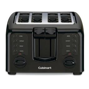 Cuisinart Compact 4 Slice Toaster w/ Dual Control Panels - Black (CPT-140BKC)