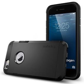"Spigen Tough Armor case for iPhone 6/6s 4.7""- Smooth Black (SGP10968/SGP11614)"