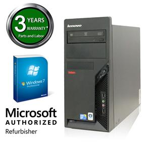 Lenovo MARS Refurbished Tower, M58P Intel Core 2 Duo E8400 3.0GHz, 4G DDR3, 250GHDD, Windows 7 Professional 64 Bit, 3 Year Warranty