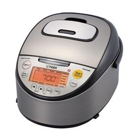 Tiger JKT-S18U 10.0 Cups Induction Heating Rice Cooker/Warmer/Slow Cooker - Black & Stainless Steel (JKT-S18U)