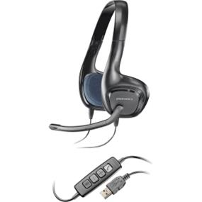 Plantronics .Audio 628 Stereo USB Headset - Stereo - USB - Wired - 20 Hz - 20 kHz - Over-the-head - Binaural - Semi-open - 6.5 ft Cable - Noise Cancelling Microphone