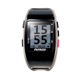 PAPAGO! GoWatch 770 Rechargeable GPS Watch for MuiltiSports - Black & Pink (GW770PN-US)