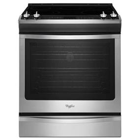 Whirlpool 6.2 cu. ft. Front-Control Electric Stove with TimeSavor Convection - Stainless Steel (YWEE730H0DS)