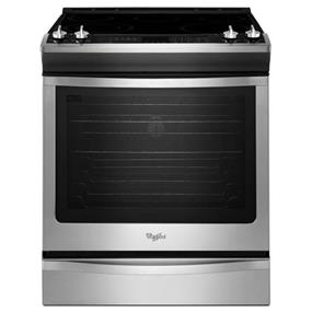 Whirlpool 6.2 cu. ft. Front-Control Electric Range with TimeSavor Plus True Convection - Stainless Steel (YWEE760H0DS)