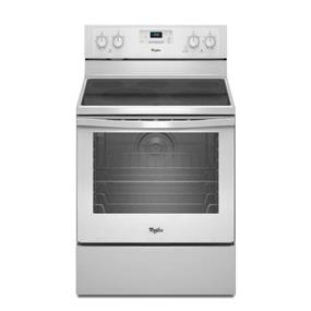 Whirlpool 6.2 cu. ft. Capacity Electric Range with AquaLift Self-Clean Technology - White (YWFE540H0BW)