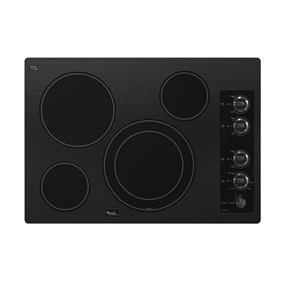Whirlpool Gold 30-inch Electric Ceramic Glass Cooktop with Dual Radiant Element - Black (G7CE3034XB)