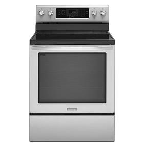 KitchenAid 30-Inch 5-Element Electric Freestanding Range, Architect Series II - Stainless Steel (YKERS303BSS)