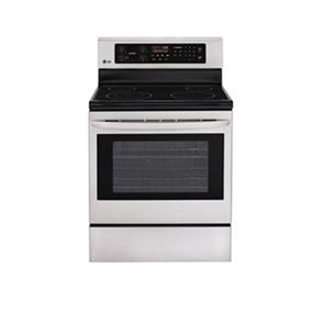 LG 6.3 cu.ft. Large Capacity Electric Range - Stainless Steel (LRE6321ST)