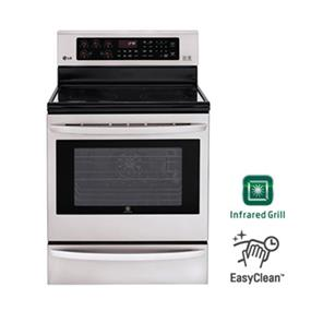 LG 6.3 cu.ft. Electric Range with Infrared Grill - Stainless Steel (LRE6385ST)