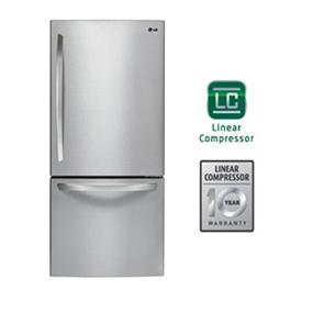 LG 30 inch , 22 cu.ft. Bottom Freezer Drawer Refrigerator with Smart Cooling - Stainless Steel (LDC22370ST)
