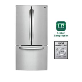 LG 33 inch , 24 cu.ft. French Door Refrigerator with Smart Cooling - Stainless Steel (LFC24786ST)