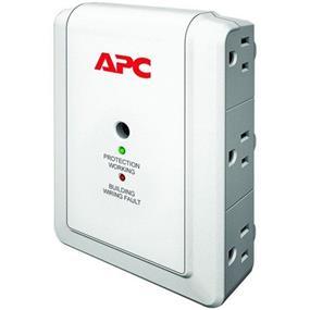 APC SurgeArrest Essential P6WT 6-Outlets Surge Suppressor - 6 x NEMA 5-15R - 1080 J - 120 V AC Input - 120 V AC Output - Phone Protection