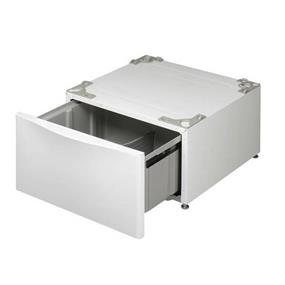 """LG 13.6"""" Pedestals for White Models of Front Load Washer and Dryer with Metallic Front and Pocket handle - White (WDP4W) (W 27"""" x H 13 3/5"""" x D 28 2/5"""")"""