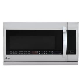 LG 2.2 cu.ft. Largest Capacity Over-The-Range Microwave w/ 2nd Generation Slide-Out Extendavent and EasyClean Interior - Stainless Steel (LMV2257ST)