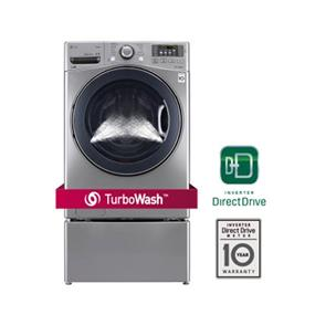 LG 5.2 Cu. Ft. High Efficiency TurboWash Front Load Steam Washer - Silver (WM3570HVA)