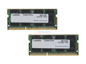 Mushkin Essentials 16GB(2X8GB)  DDR3 1600MHz CL11 PC3L-12800 SODIMM(997038)