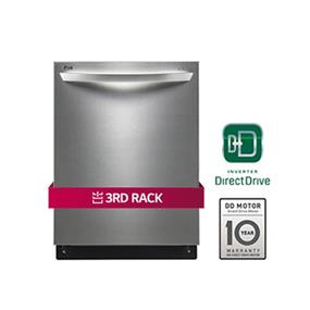 LG 44DB Fully-Integrated Dishwasher with EasyRack Plus and Height Adjustable Racking - Stainless Steel (LDF7774ST)