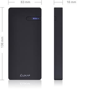 Thermaltake Luxa2 EnerG Slim 10000mAh lithium polymer battery cell Dual USB Power Bank Black (PO-EG2-PC10BK-00)