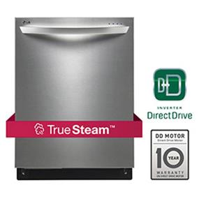 LG 42DB Fully-Integrated Dishwasher with TrueSteam, EasyRack Plus and Height Adjustable Racking - Stainless Steel (LDF8874ST)